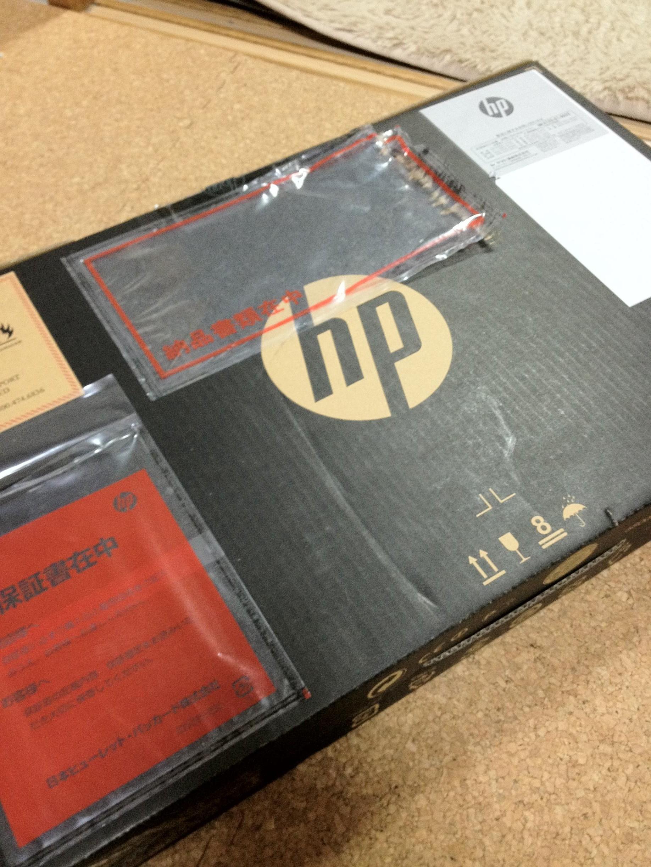 HP Pavilion dv7-6c00 /CT 到着しました。