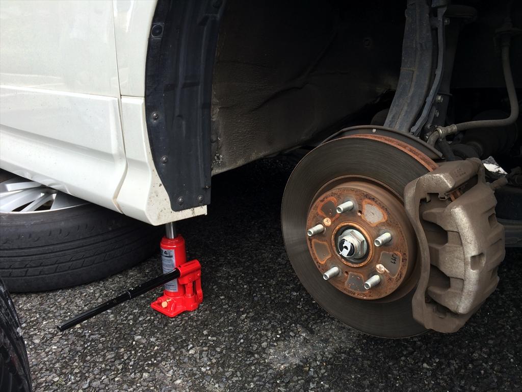 エリシオン車検前にホイール&タイヤ交換。
