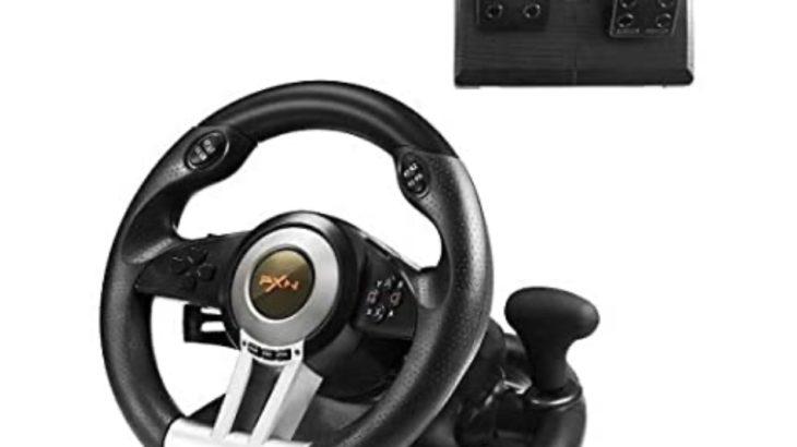 PXN-V3IIB レーシングホイール ハンドルコントローラーを購入。